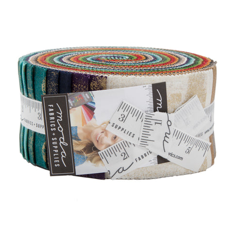 Grunge Metallic Jelly Roll - Basic Grey - 30150JRM