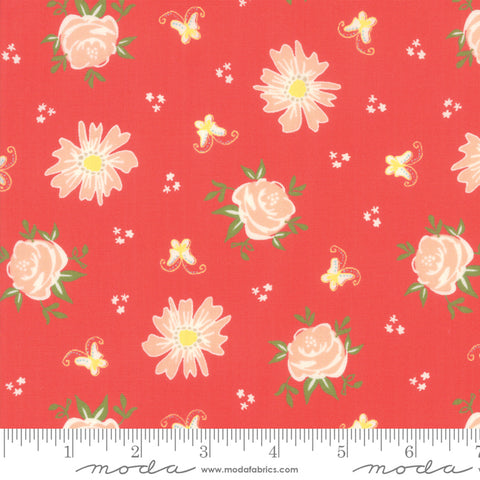 Harpers Garden - Sherri & Chelsi - Roses - Geranium - 37570-15 - Fabric is sold in 1/2 yard increments