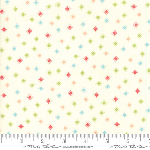 Harpers Garden - Sherri & Chelsi - Diamonds - Ivory - 37577-11 - Fabric is sold in 1/2 yard increments