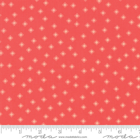 Harpers Garden - Sherri & Chelsi - Diamonds - Geranium - 37577-17 - Fabric is sold in 1/2 yard increments