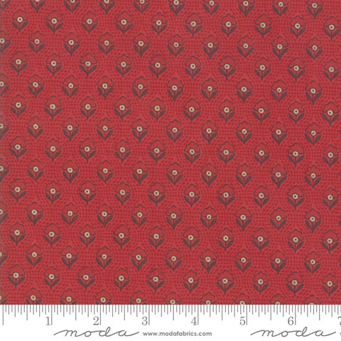Chafarcani - French General - Rouge Red - 13856-11 - Fabric is sold in 1/2 yard increments