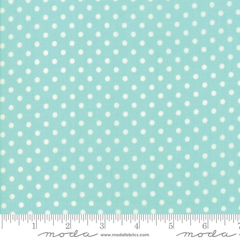 Little Snippets - Bonnie & Camille - Dot - Aqua - 55185-12 - Fabric is sold in 1/2 yard increments