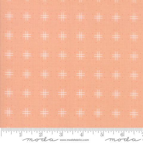Lollipop Garden - Lella Boutique - Tic Tac Toe - Tangerine - 5083-18 - Fabric is sold in 1/2 yard increments