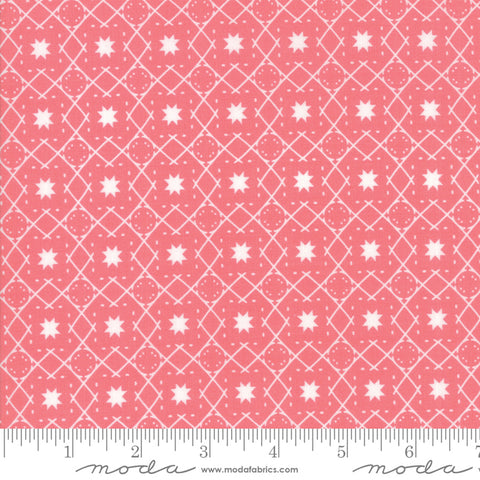 Lollipop Garden - Lella Boutique - Stargaze - Raspberry - 5084-13 - Fabric is sold in 1/2 yard increments