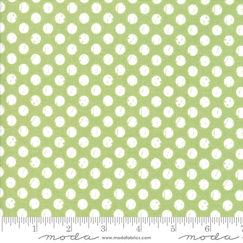 Lollipop Garden - Lella Boutique - Whitewashed Dots - Apple - 5085-16