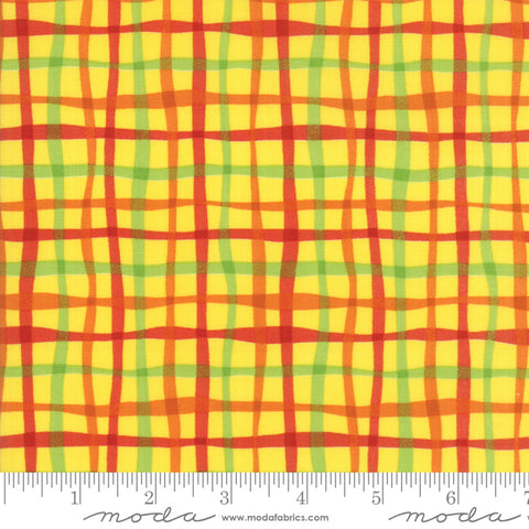 Later Alligator - Sandy Gervais - Watercolor Plaid - Sunshine - 17986-14 - Fabric is sold in 1/2 yard increments