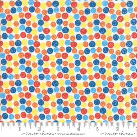 Later Alligator - Sandy Gervais - Circle Dot - Multi - 17987-11 - Fabric is sold in 1/2 yard increments