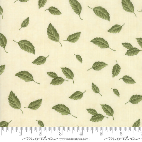 Fresh Off The Vine - Holly Taylor - Floating Leaves - Bone - 6762-11 - Fabric is sold in 1/2 yard increments