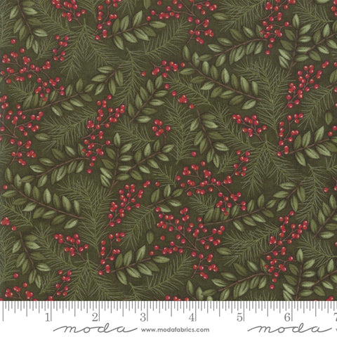 Winter Manor - Hollly Taylor - Winter Greens - Pine - 6772-14 - Fabric is sold in 1/2 yard increments