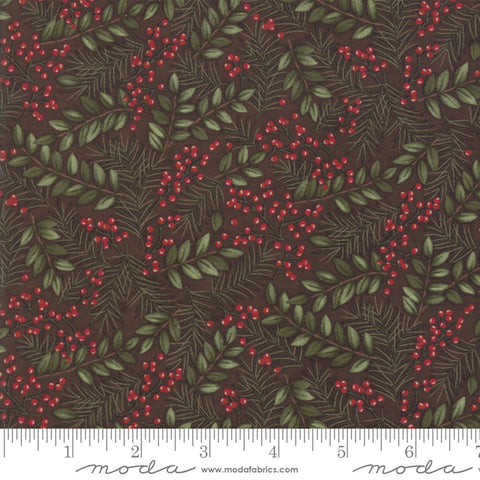Winter Manor - Holly Taylor - Winter Greens - Twig - 6772-16 - Fabric is sold in 1/2 yard increments