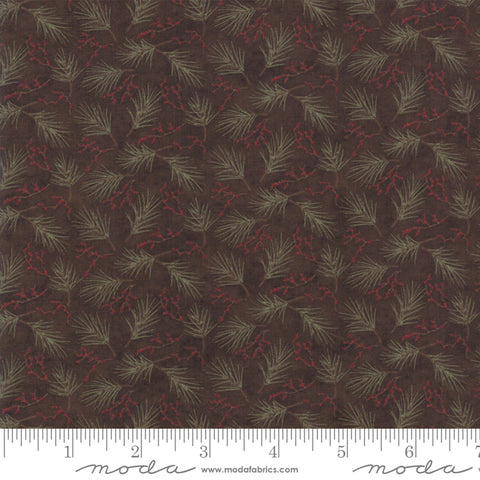 Winter Manor - Holly Taylor - Mini Pine - Twig - 6773-16 - Fabric is sold in 1/2 yard increments