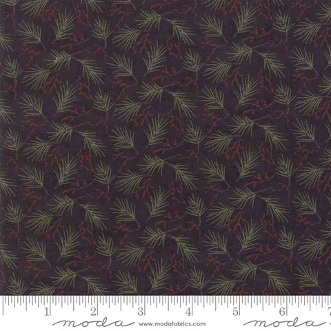 Winter Manor - Holly Taylor - Mini Pine - Ebony - 6773-17 - Fabric is sold in 1/2 yard increments