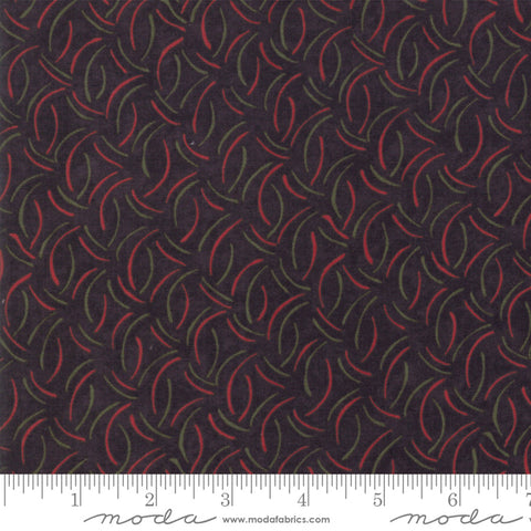 Winter Manor - Holly Taylor - Motion - Ebony - 6777-17 - Fabric is sold in 1/2 yard increments