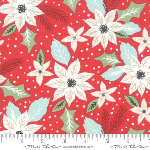 Little Tree - Lella Boutique - Christmas Bouquet - Cranberry - 5091-13 - Fabric is sold in 1/2 yard increments
