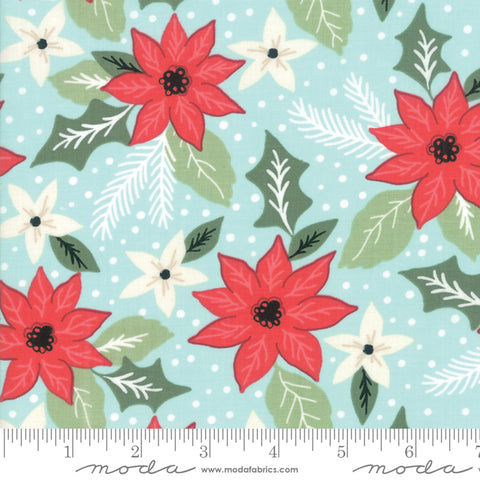 Little Tree - Lella Boutique - Christmas Bouquet - Frost - 5091-16 - Fabric is sold in 1/2 yard increments