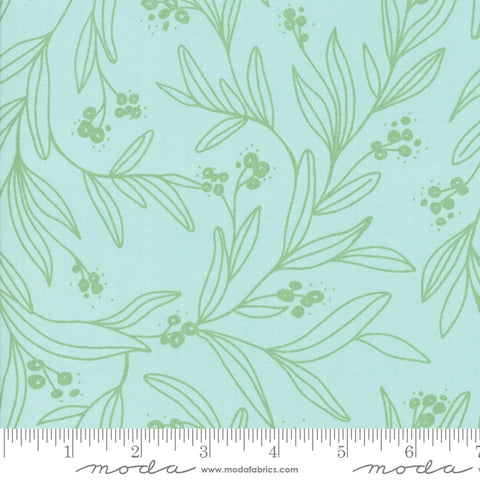 Little Tree - Lella Boutique - Mistletoe - Frost - 5092-16 - Fabric is sold in 1/2 yard increments