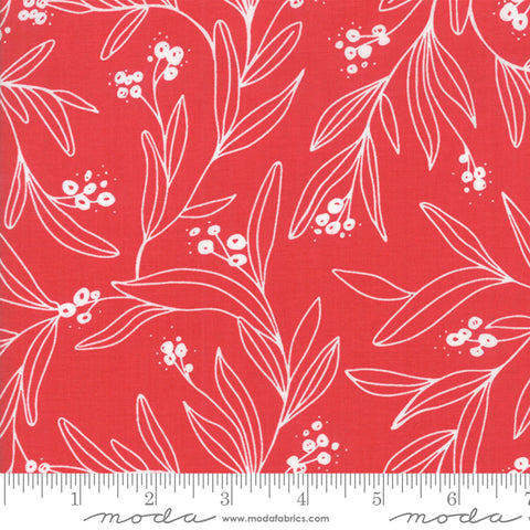 Little Tree - Lella Boutique - Mistletoe - Cranberry - 5092-23 - Fabric is sold in 1/2 yard increments