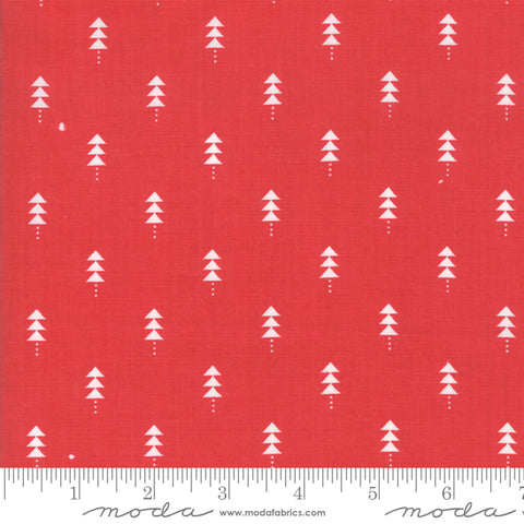 Little Tree - Lella Boutique - Little Trees - Cranberry - 5094-13 - Fabric is sold in 1/2 yard increments