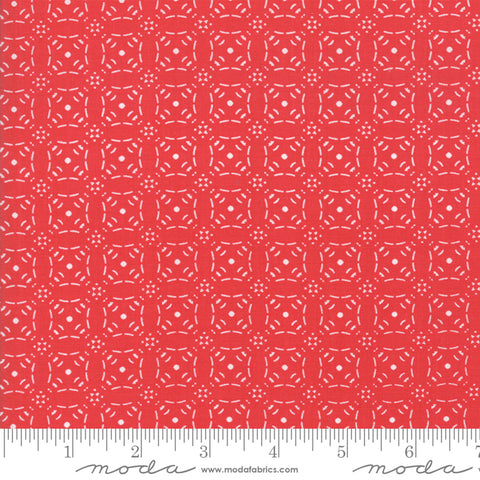 Little Tree - Lella Boutique - Embossed - Cranberry - 5095-13 - Fabric is sold in 1/2 yard increments