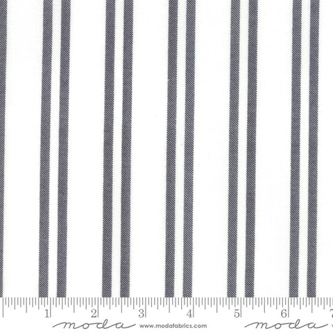 Little Tree - Lella Boutique - Farmhouse Stripe - Snow Chalkboard - 5096-11 - Fabric is sold in 1/2 yard increments