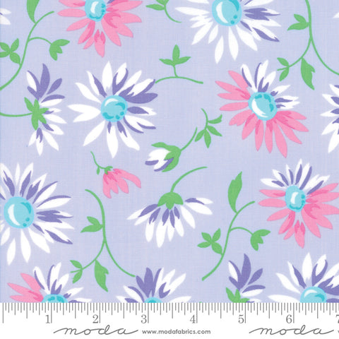 Good Day - Me and My Sister - Lazy Daisies - Purple - 22371-16 - Fabric is sold in 1/2 yard increments