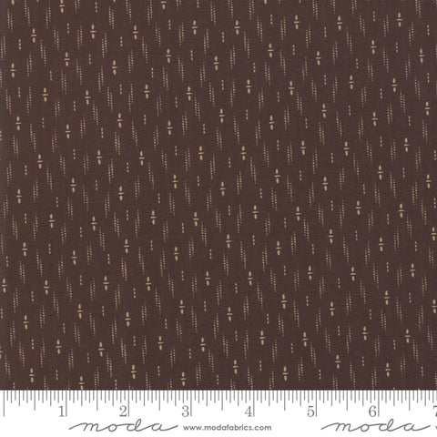 Shelbyville - Jo Morton - Brown - Stacked Dots - 38074-17 - Fabric is sold in 1/2 yard increments