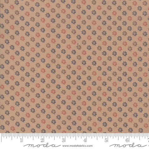 Shelbyville - Jo Morton - Tan - Flower - 38077-13 - Fabric is sold in 1/2 yard increments