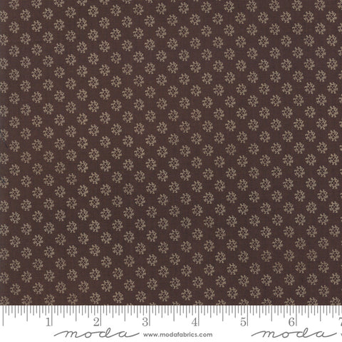 Shelbyville - Jo Morton - Brown - Flower - 38077-27 - Fabric is sold in 1/2 yard increments