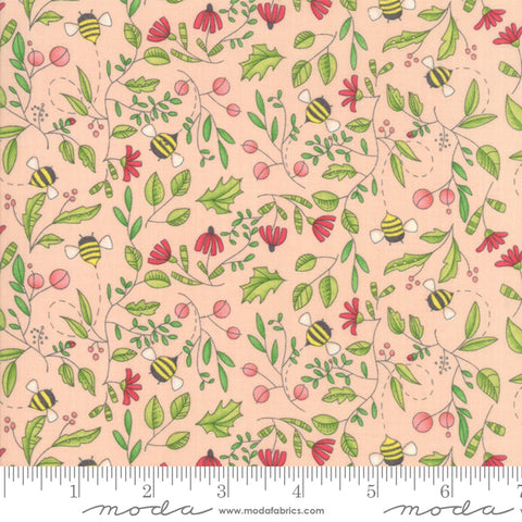 Painted Meadow - Robin Pickens - Simple Drawings - Pink - Petal - 48662-15 - Fabric is sold in 1/2 yard increments.