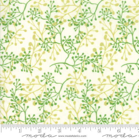 Painted Meadow - Robin Pickens - Sprigs - Cream - 48663-11 - Fabric is sold in 1/2 yard increments