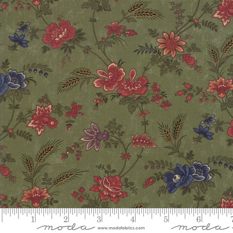 Milestones - Kansas Trouble - Green - Field Of Dreams - 9610-15 - Fabric is sold in 1/2 yard increments