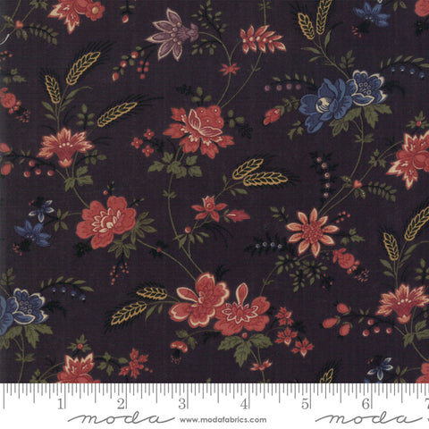Milestones - Kansas Trouble - Black - Field Of Dreams - 9610-19 - Fabric is sold in 1/2 yard increments
