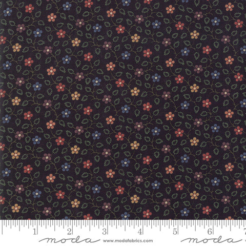 Milestones - Kansas Trouble - Black - Hope Blooms - 9612-19 - Fabric is sold in 1/2 yard increments