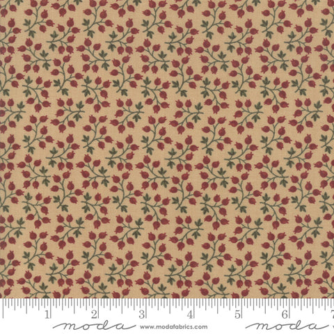 Milestones - Kansas Trouble - Tan - Branching Out - 9613-11 - Fabric is sold in 1/2 yard increments
