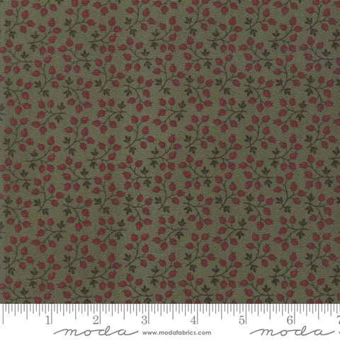 Milestones - Kansas Trouble - Green - Branching Out - 9613-15 - Fabric is sold in 1/2 yard increments