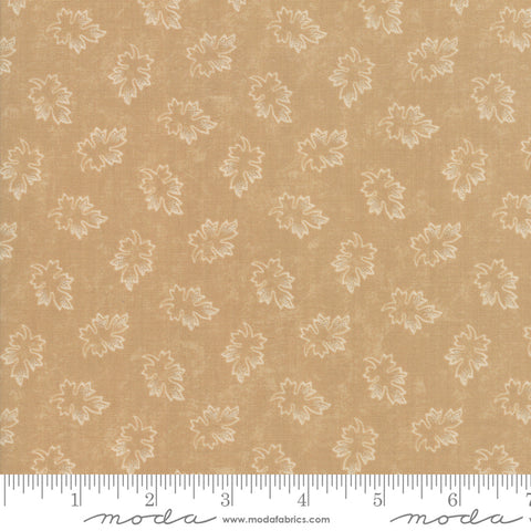 Milestones - Kansas Trouble - Tan - Leaves - 9614-11 - Fabric is sold in 1/2 yard increments