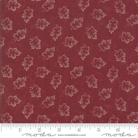 Milestones - Kansas Trouble - Red - Leaves - 9614-13 - Fabric is sold in 1/2 yard increments