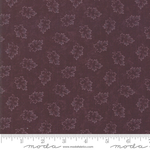 Milestones - Kansas Trouble - Purple - Leaves - 9614-16 - Fabric is sold in 1/2 yard increments