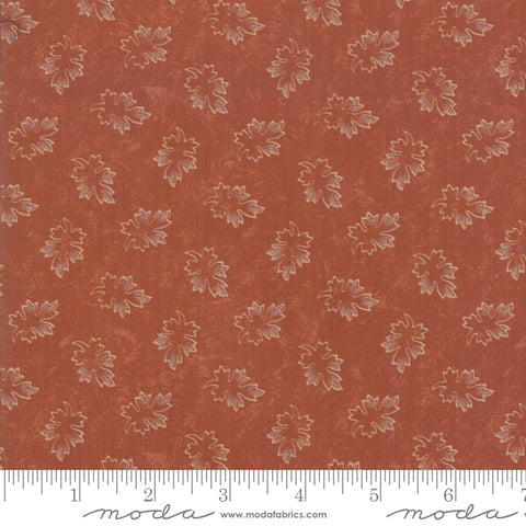 Milestones - Kansas Trouble - Orange - Leaves - 9614-17 - Fabric is sold in 1/2 yard increments