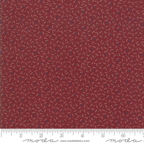 Milestones - Kansas Trouble - Red - Ups N Down - 9617-13 - Fabric is sold in 1/2 yard increments