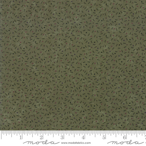 Milestones - Kansas Trouble - Green - Ups N Down - 9617-15 - Fabric is sold in 1/2 yard increments