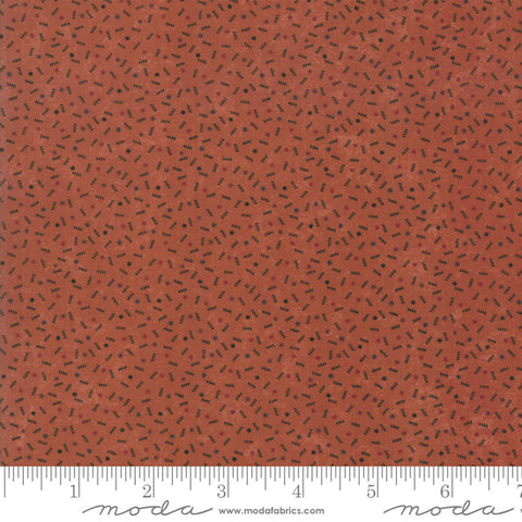 Milestones - Kansas Trouble - Orange - Ups N Downs - 9617-17 - Fabric is sold in 1/2 yard increments