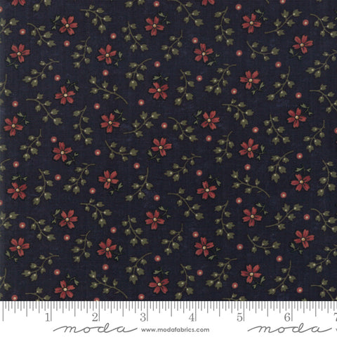 Milestones - Kansas Trouble - Navy - Autumn Years - 9618-14 - Fabric is sold in 1/2 yard increments
