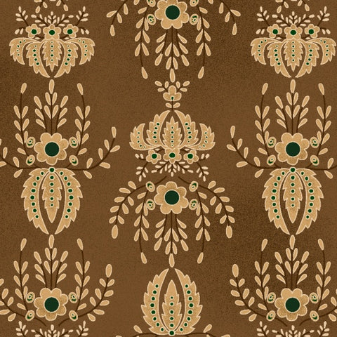 Farmstead Harvest - Kim Diehl - Brown Damask - 6943-33