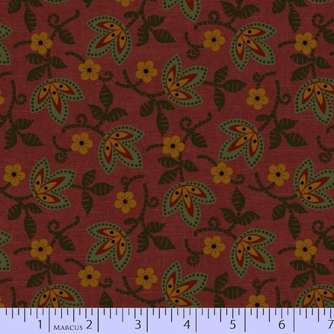 Pieceful Pines - Burgundy Forest Floor - Pam Buda - R17-8205-0111