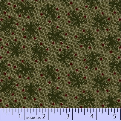 Pieceful Pines - Green Berry Bough - Pam Buda - R17-8207-0114