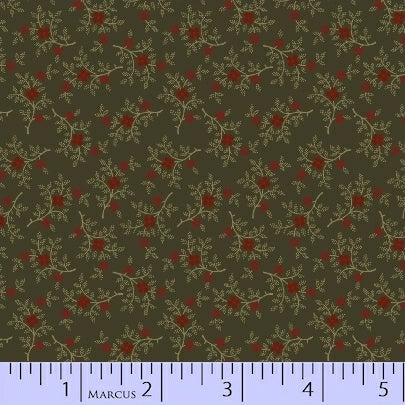 Pieceful Pines - Green Berry Sprig - Pam Buda - R17-8208-0114