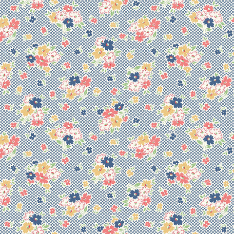 Farm Girl Vintage - Lori Holt - C7870-Denium - Fabric is sold in 1/2 yard increments