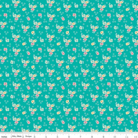 Farm Girl Vintage - Lori Holt - Flower - C7872-VIVID - Fabric is sold in 1/2 yard increments