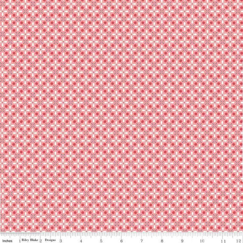 Farm Girl Vintage - Lori Holt - Vintage - C7879-Coral - Fabric is sold in 1/2 yard increments